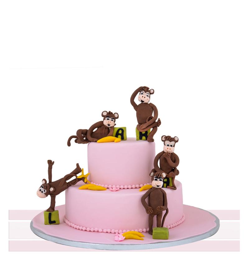 Tort copii aniversare Monkeys