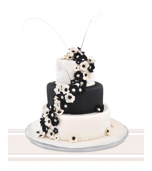 Tort de nunta Black&White