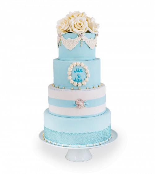 Tort de nunta Blue Water