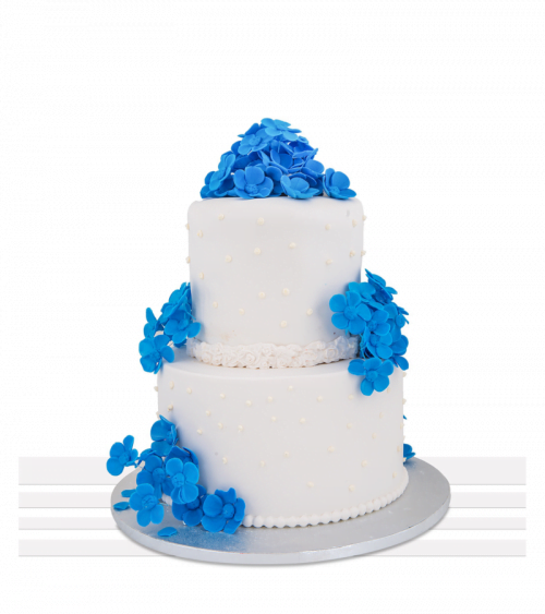 Tort de nunta Flori Albastre