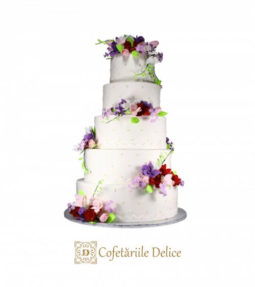 Tort de nunta Flowers