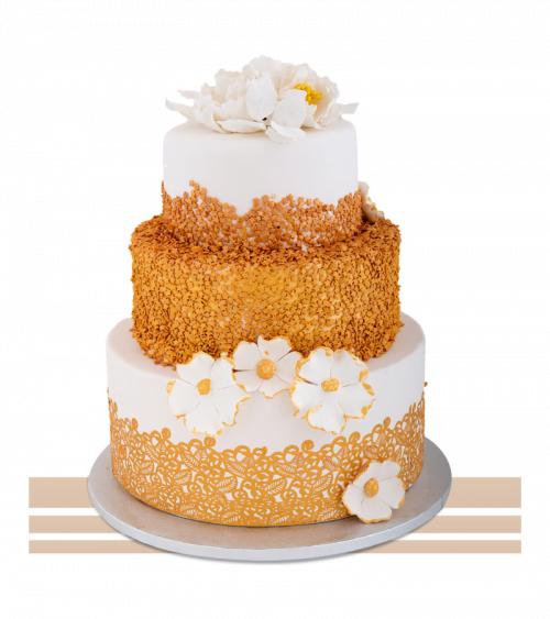 Tort de nunta Golden Flower