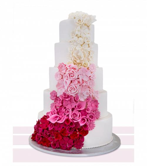 Tort de nunta Gradient Roses