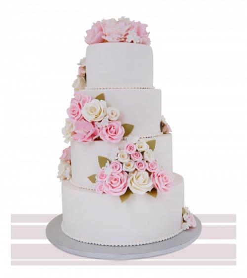 Tort de nunta Roses