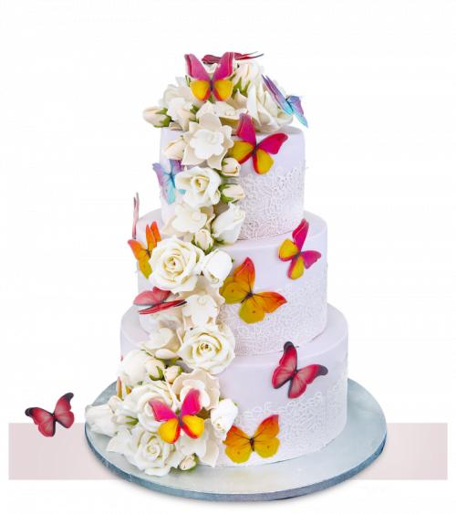 Tort de nunta White Roses