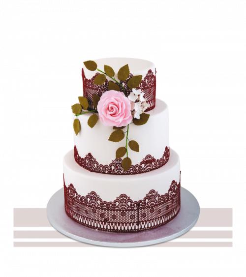 Tort nunta stilizat traditional romanesc