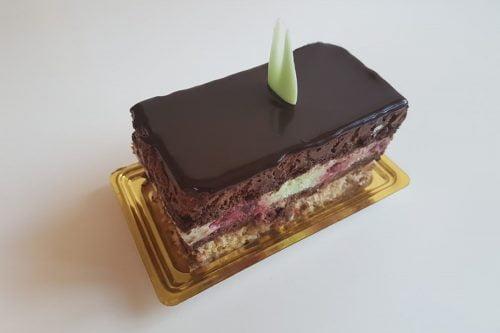 Prajituri Cofetariile Delice Mousse ciocolata belgiana cu menta