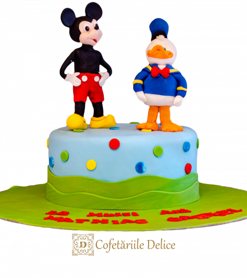 Tort copii Mickey Mouse si Donald Duck