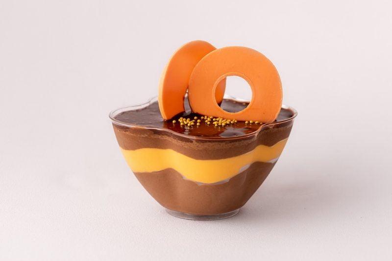 Mousse ciocolata neagra belgiana si mandarine